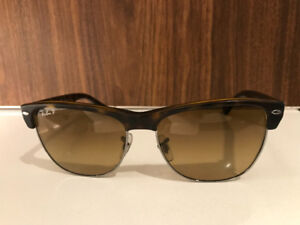 Ray ban club master light brown polarized. Authentic.