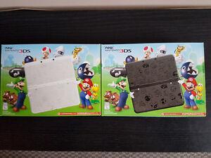 Nintendo 3DS Super Mario White Edition et Black Edition