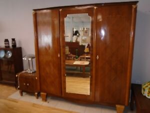 FRENCH ART DECO ROSEWOOD ARMOIRE