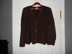 tres you, Brown Button Up Sweater, Size 2x