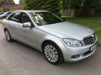 2010 MERCEDES-BENZ C200 ELEGANCE CDI AUTOMATIC SILVER SALOON **ONLY 50K MILES**