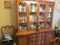 china cabinet & hutch plus table & 6chairs