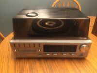 Record player with 8 track player