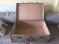 Shabby chic vintage suitcase