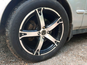 """Set of 5 RTX 16"""" 4×100 rims with tires in grest shape!"""