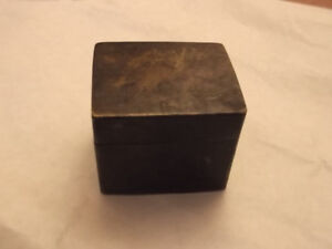Antique Chinese Metal Ink Box