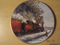 Canadian Pacific Railway Plate by Ted Xaras-The age of steam