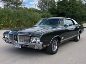 1971 Oldsmobile Cutlass hardtop, 81,928 mi., 350, V-8 eng. AT