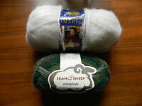 2 Skeins Mohair Yarn New