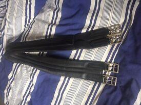 "46"" Black Leather Girth"
