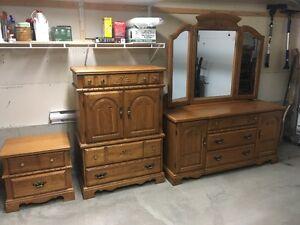 Vintage Solid Oak Bedroom Set
