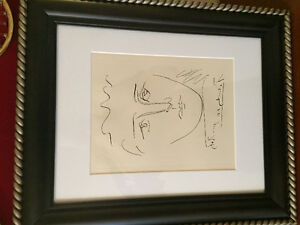 Pablo Picasso original etching poor robie signed with coa