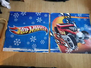 Two massive Hotwheels posters
