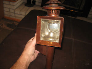TWO ANTIQUE CAR/BUGGY LANTERN