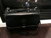 Mint condition Bugatti leather briefcase /holds laptop