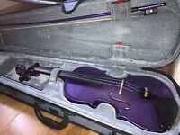 Purple, 3/4 sized violin