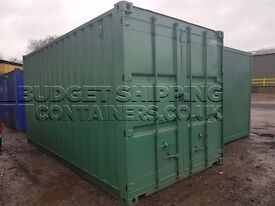 20ft shipping containers refurbished/repainted ideal for on-site storage or garden storage