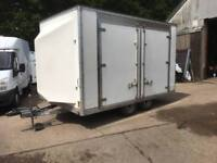 EXHIBITION 4 WHEEL TRAILER, 7 FT HEADROOM,7FT WIDE,12 FT LONG,IDEAL CATERING ETC