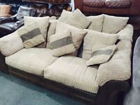 Fabric 3 and 2 sofas