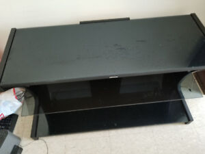 Excellent glass tv stand, $70 obo.
