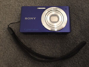 Sony digital camera with case and battery charger