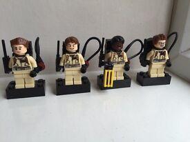 Ghostbusters custom mini figures. Original busters! Like Lego but not Lego!