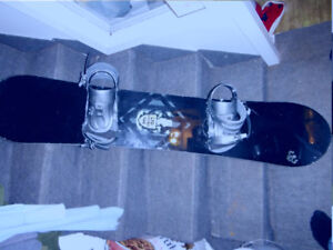 Snowboard and bindings 144cm $150 reduced to $125