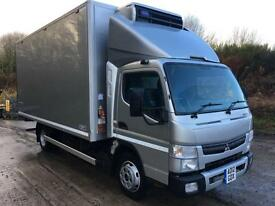 2012 Mitsubishi Canter 7c15 16ft6 Gray Adams fridge box Carrier Xarios freezer