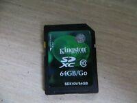 Carte SD 64Gb
