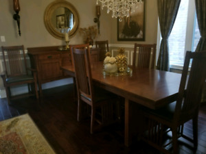 Mission Style Dining Set with Buffet