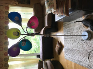 Colourful floor lamp
