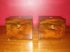 Collection of Antique Boxes - Tea Caddies Lapdesks Knife Boxes London Ontario image 3