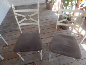 4 welded steel patio or dining chairs $130