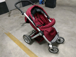 Mutsy Transporter Stroller, with Graco car seat adapter.