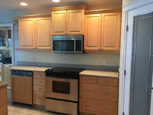 Maple Kitchen Cabinets and Island for sale