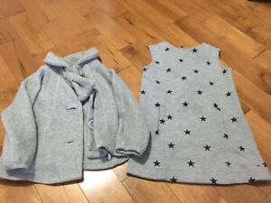2T Tommy Hilfiger Girls dress and 2T Baby Gap Grey coat
