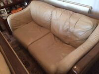 Leather Settees. Free to collector.
