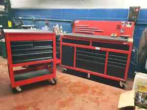 "60"" tool box 3 months old and matching tool cart"