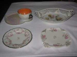ANTIQUE BONE CHINA GERMANY LOT of 4