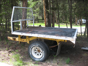 Steel deck for small truck