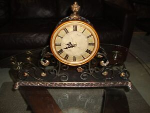 Bombay Wrought Iron Mantle Clock, Beautiful Condition $60.00
