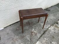 Piano stool vintage leather topped Canadian can deliver
