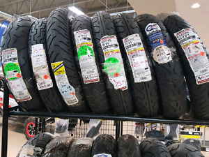 New motorcycle tires