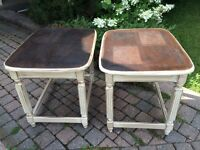 2 Solid Wood Accent Tables
