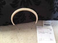 New custom made pearl tiara