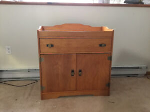Free standing microwave cabinet