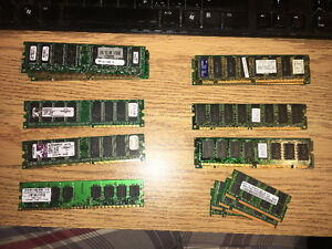 Lot de mémoire, SDRAM, DDR, DDR2, SODIM, Desktop, Laptop