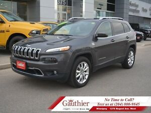 2015 Jeep Cherokee Limited 4X4 V6 w/Panoramic Sunroof  - Bluetoo