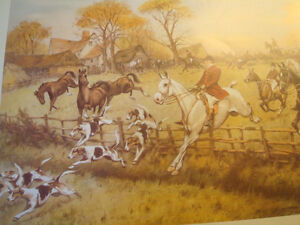 "Fox Hunt Full Cry Through The Homestead,16""X20"" George Wright"