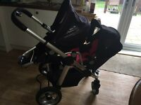 I candy double pram Can convert back to one pram.